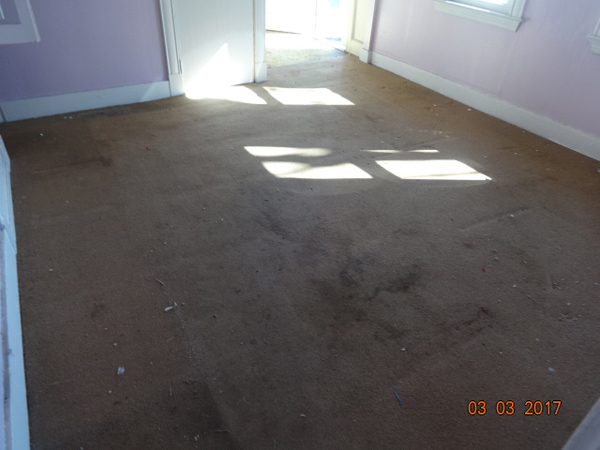 Old stained carpet